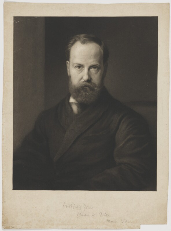 Sir Charles Wentworth Dilke, 2nd Bt, by Richard Josey, after  George Frederic Watts, 1880 - NPG D32849 - © National Portrait Gallery, London