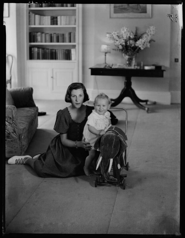 Françoise (née Soulier), Lady Ashley; Anthony Ashley-Cooper, 10th Earl of Shaftesbury, by Bassano Ltd, 7 July 1939 - NPG x154104 - © National Portrait Gallery, London