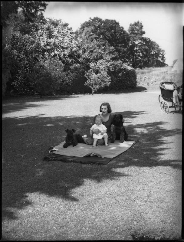 Anthony Ashley-Cooper, 10th Earl of Shaftesbury; Françoise (née Soulier), Lady Ashley, by Bassano Ltd, 7 July 1939 - NPG x154108 - © National Portrait Gallery, London