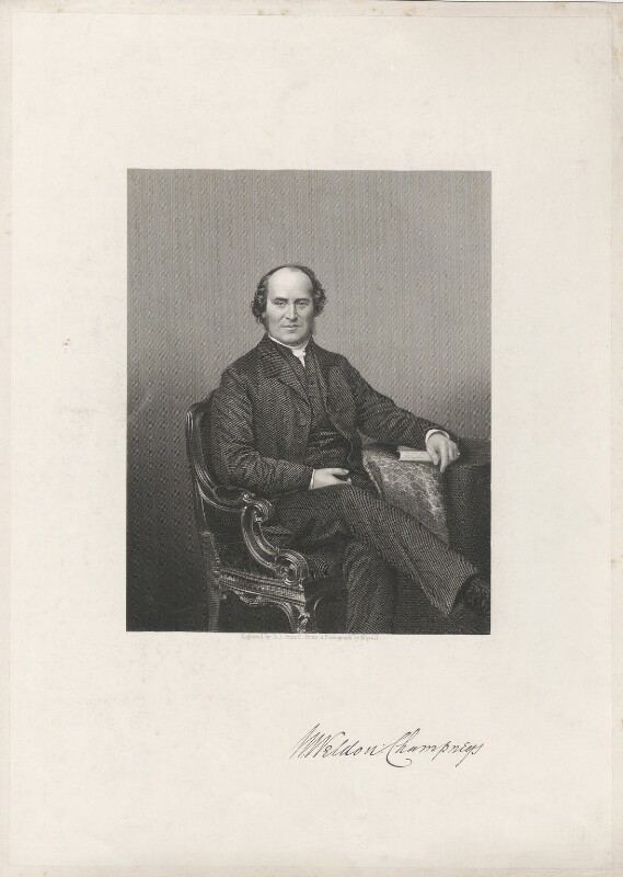 (William) Weldon Champneys, by Daniel John Pound, after a photograph by  John Jabez Edwin Mayall, mid 19th century - NPG D32852 - © National Portrait Gallery, London