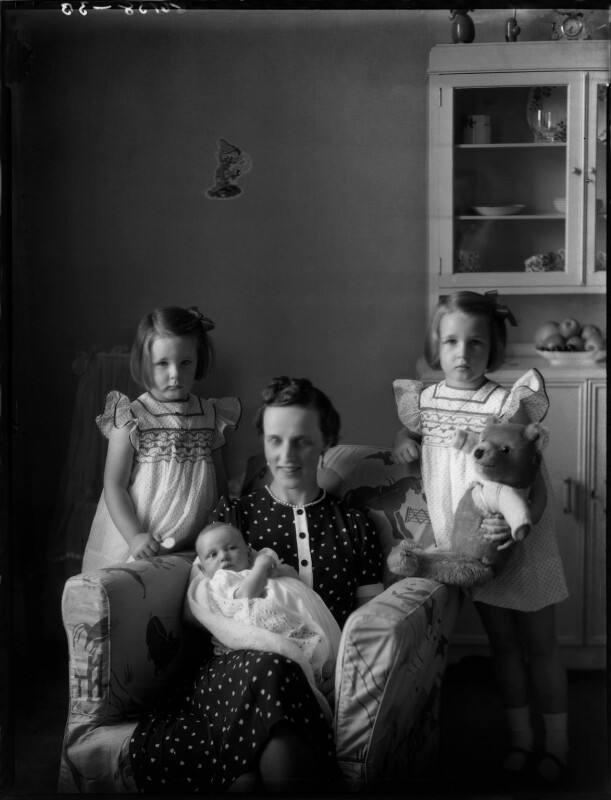 Countess Raczynska with her daughters, by Bassano Ltd, 19 July 1939 - NPG x154118 - © National Portrait Gallery, London