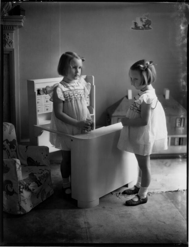 Wanda Dembinska (née Raczynska); Wiridiana (née Raczynska), Countess Rey, by Bassano Ltd, 19 July 1939 - NPG x154121 - © National Portrait Gallery, London