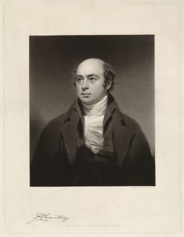 Sir Francis Leggatt Chantrey, by Charles Turner, after  Sir Henry Raeburn, published 1843 - NPG D32856 - © National Portrait Gallery, London