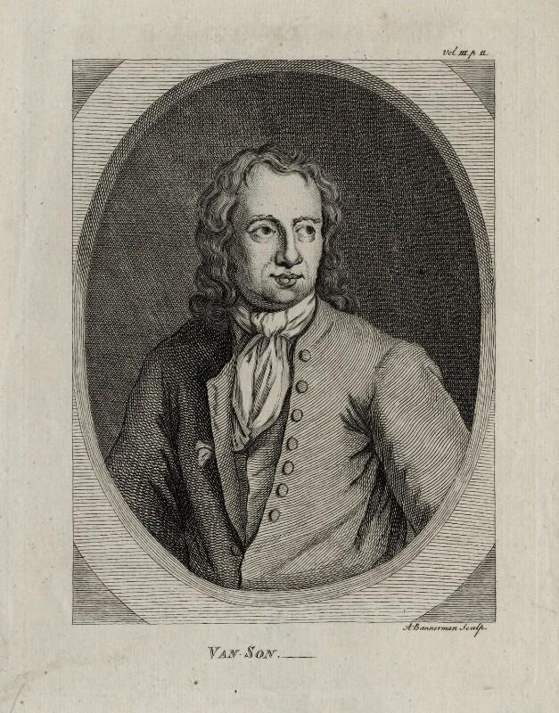 Jan Frans van Son, by Alexander Bannerman, after  Unknown artist, published 1762 - NPG D30428 - © National Portrait Gallery, London
