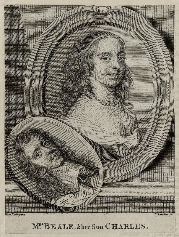 Mary Beale and Charles Beale the Younger, by Thomas Chambers (Chambars), after  Mary Beale, published 1762 - NPG D30431 - © National Portrait Gallery, London