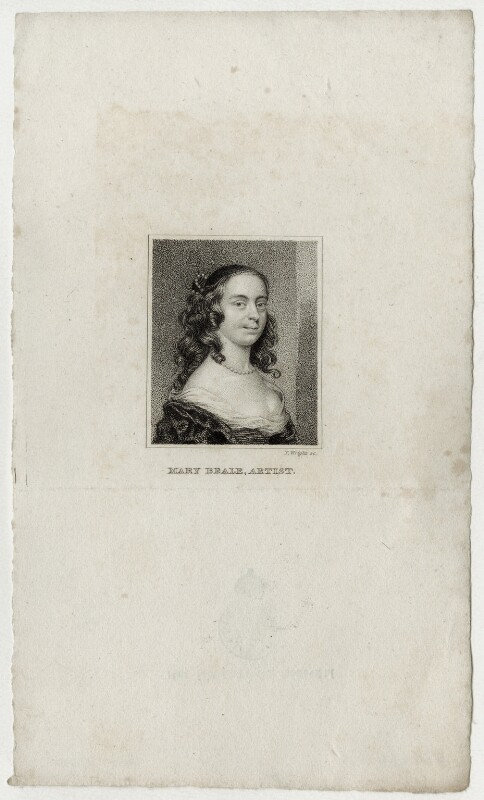 Mary Beale, by Thomas Wright, after  Mary Beale, published 1820 - NPG D30434 - © National Portrait Gallery, London