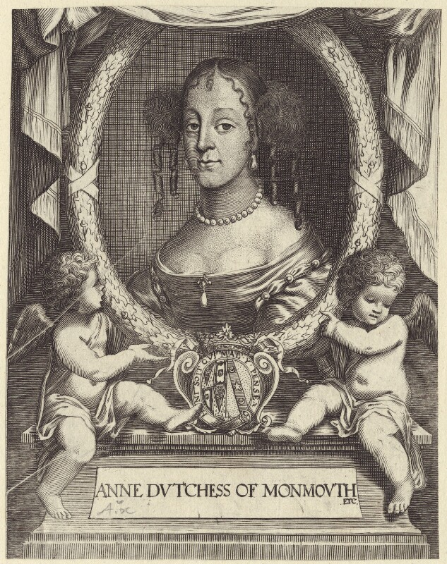 Anna Scott, Duchess of Monmouth and Duchess of Buccleuch, published by Peter Stent, circa 1663 - NPG D30493 - © National Portrait Gallery, London