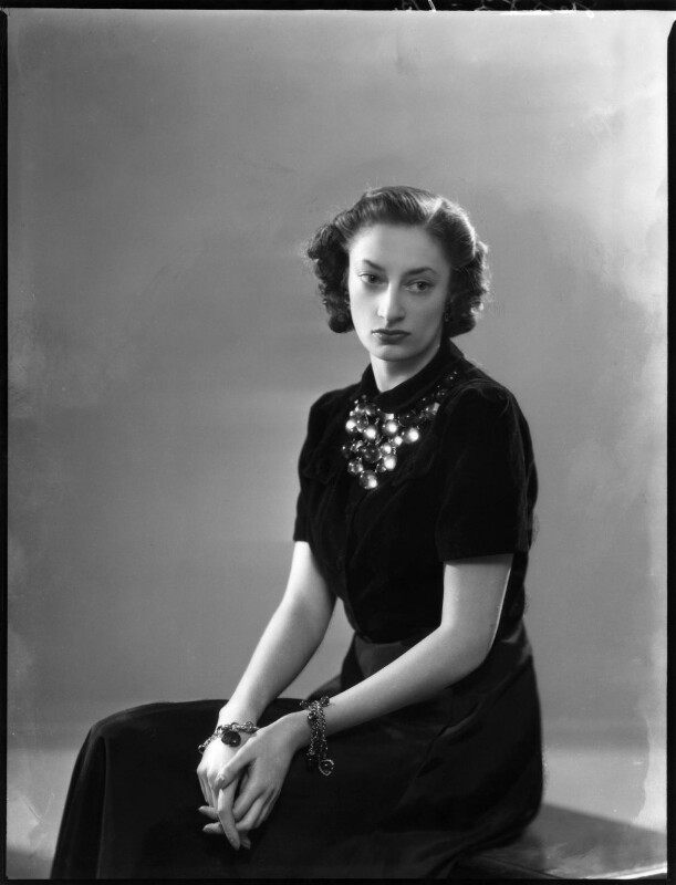 Princess Natasha (née Bagration-Mukhransky), Lady Johnston, by Bassano Ltd, 22 January 1940 - NPG x154177 - © National Portrait Gallery, London