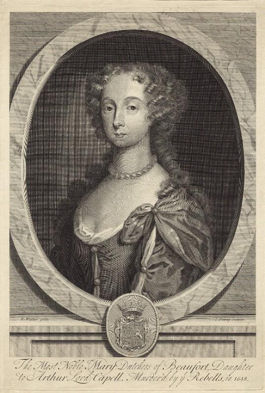 Mary, Duchess of Beaufort, by Joseph Nutting, after  Robert Walker, circa 1690-1722 - NPG D30510 - © National Portrait Gallery, London