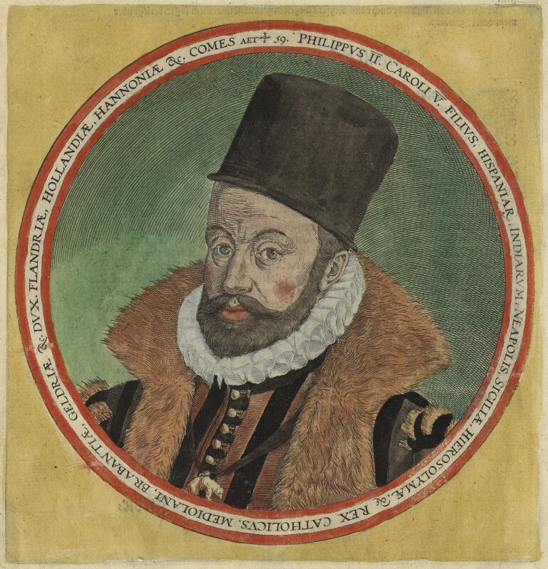 Philip II, King of Spain, after Unknown artist, circa 1586 - NPG D32875 - © National Portrait Gallery, London
