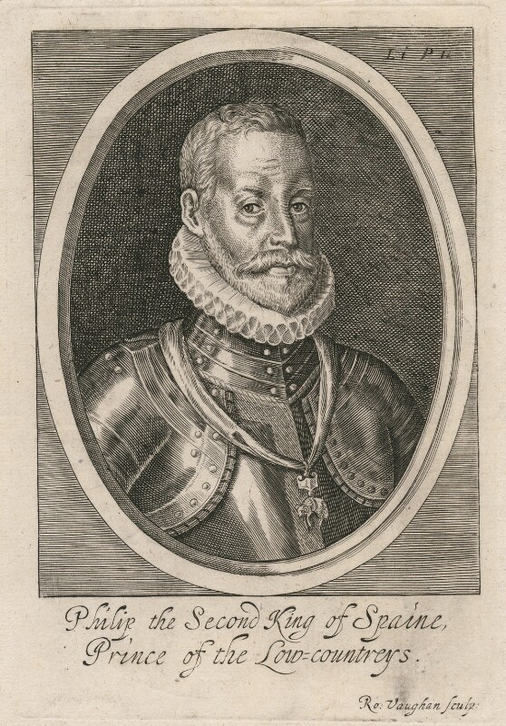 Philip II, King of Spain, by Robert Vaughan, mid 17th century - NPG D32881 - © National Portrait Gallery, London