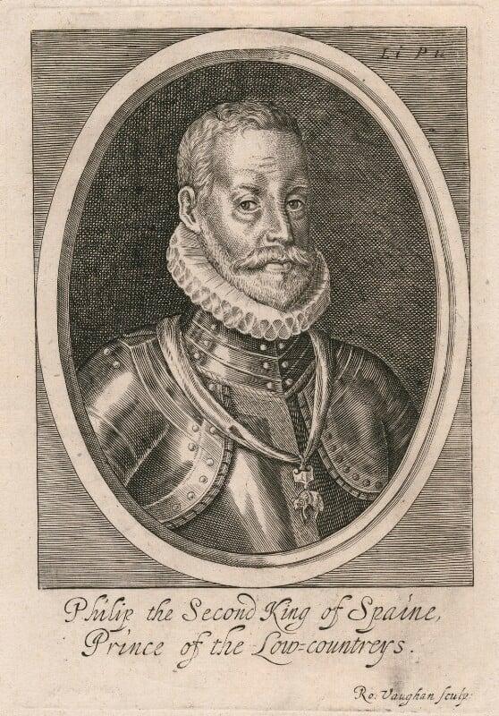 Philip II, King of Spain, by Robert Vaughan, mid 17th century - NPG D32881 - © National Portrait Gallery, London