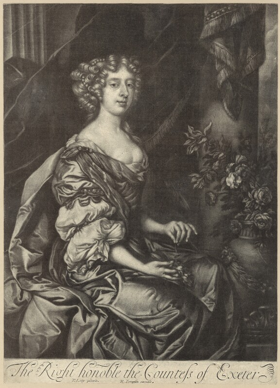 Anne Cecil (née Cavendish), Countess of Exeter, by Richard Tompson, after  Sir Peter Lely, 1678-1679 - NPG D30516 - © National Portrait Gallery, London