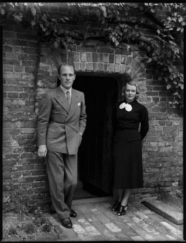 Sir Charles Stuart Taylor; Constance Ada (née Shotter), Lady Taylor, by Bassano Ltd, 30 June 1937 - NPG x153085 - © National Portrait Gallery, London