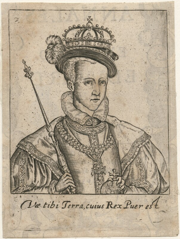 King Edward VI, published by Adam Islip, and published by  William Stansby, after  Unknown artist, published 1630 - NPG D32888 - © National Portrait Gallery, London