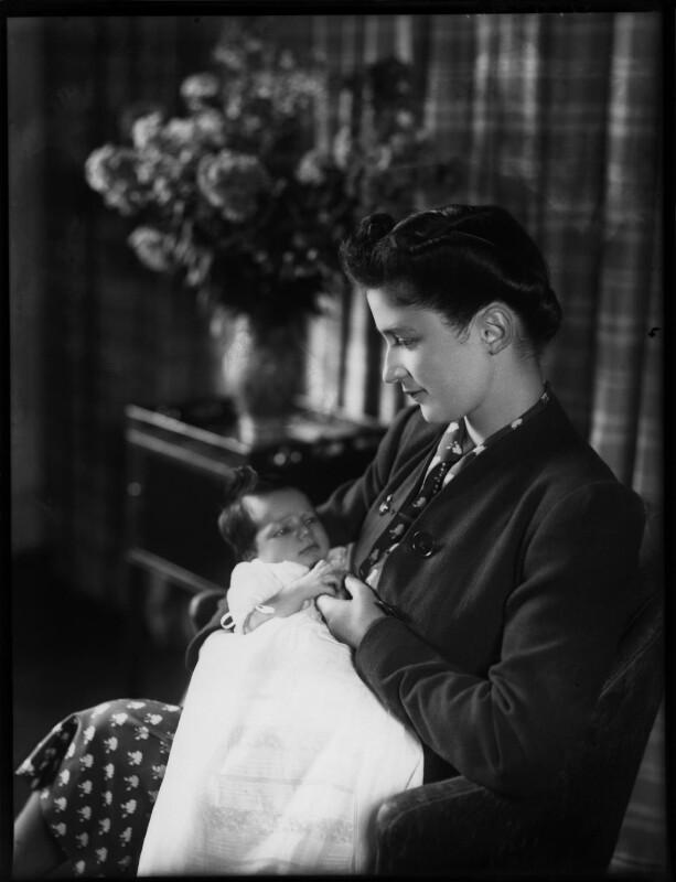 Fiona Jane Obert de Thieusies (née O'Brien); Josephine Reine O'Brien (née Bembaron), by Bassano Ltd, 27 August 1941 - NPG x154235 - © National Portrait Gallery, London