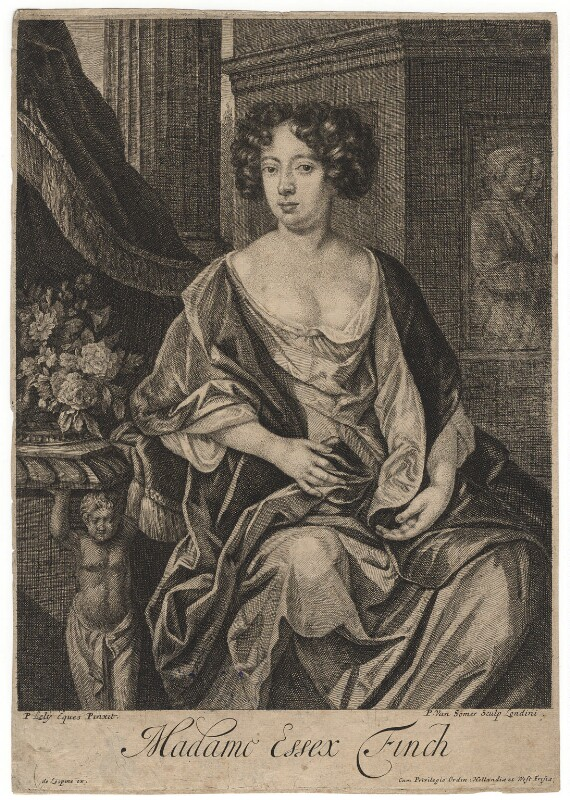 Essex Finch (née Rich), Countess of Nottingham, by Paul van Somer, after  Sir Peter Lely, late 17th century - NPG D17976 - © National Portrait Gallery, London