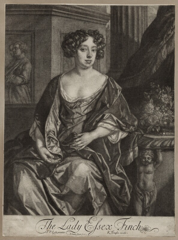 Essex Finch (née Rich), Countess of Nottingham, by Jan van der Vaart, after  Sir Peter Lely, published by  Richard Tompson, late 17th century - NPG D30545 - © National Portrait Gallery, London