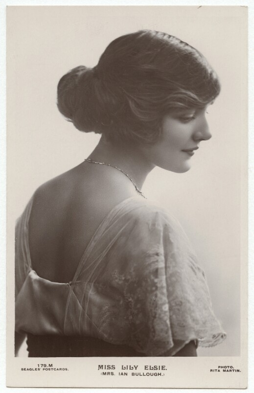 Lily Elsie (Mrs Bullough), by Rita Martin, published by  J. Beagles & Co, 1907 - NPG x131528 - © National Portrait Gallery, London