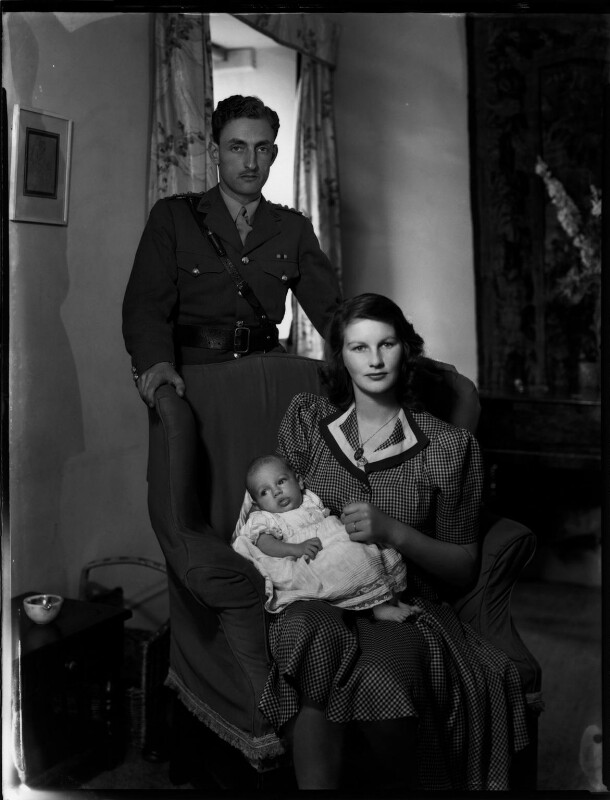 The Marquess and Marchioness of Reading with their son, by Bassano Ltd, 18 July 1942 - NPG x154272 - © National Portrait Gallery, London