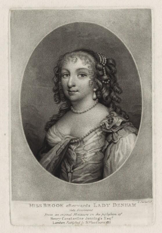 Margaret (née Brooke), Lady Denham, by Charles Turner, after  Unknown artist, published by  Samuel Woodburn, published 1811 - NPG D30561 - © National Portrait Gallery, London