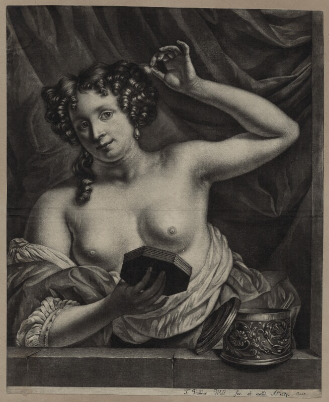 Eleanor ('Nell') Gwyn, by and published by Thomas van der Wilt, 1687 - NPG D30626 - © National Portrait Gallery, London