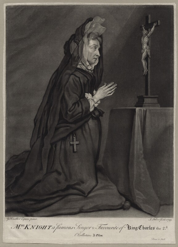 Mary Knight, by John Faber Jr, after  Sir Godfrey Kneller, Bt, 1749 - NPG D30630 - © National Portrait Gallery, London