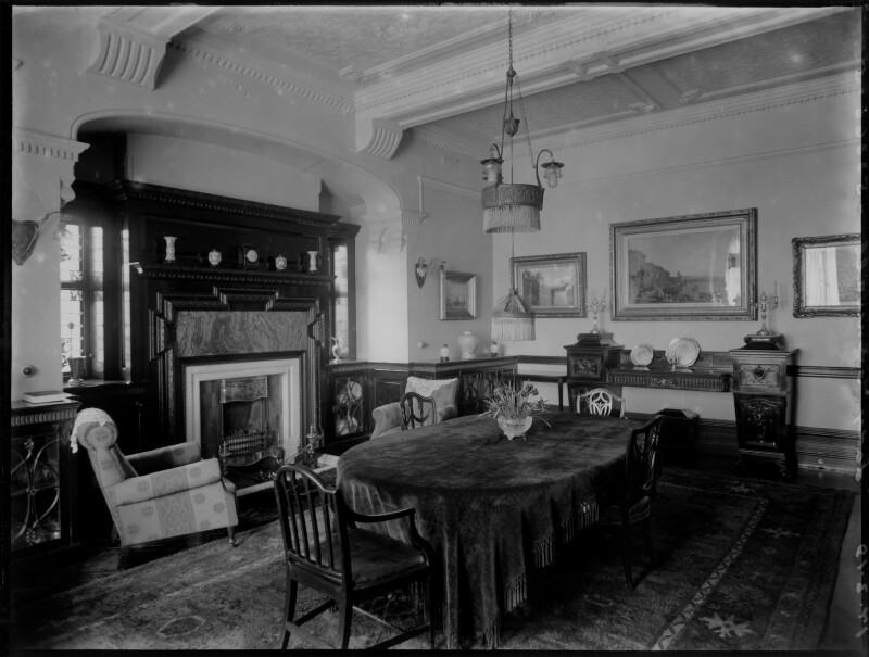 'Lady Cornwall's dining room', by Bassano Ltd, 17 March 1919 - NPG x154360 - © National Portrait Gallery, London