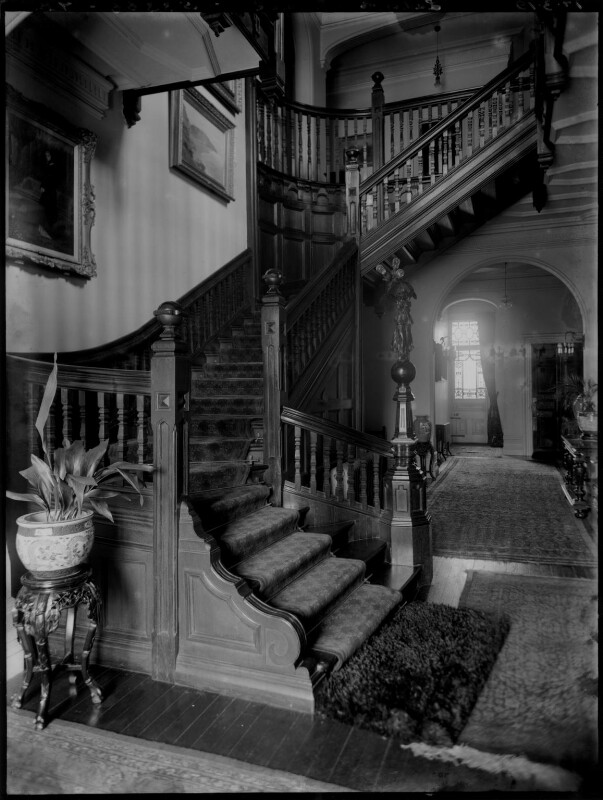 'Lady Cornwall's hall and staircase', by Bassano Ltd, 17 March 1919 - NPG x154362 - © National Portrait Gallery, London