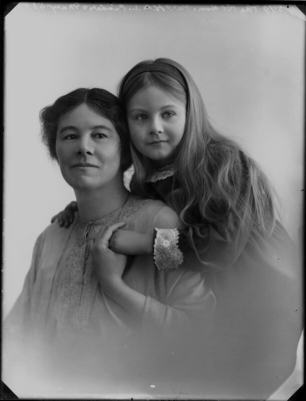 Lettice Fisher (née Ilbert); Mary Letitia Somerville Bennett (née Fisher), by Bassano Ltd, 24 March 1919 - NPG x154372 - © National Portrait Gallery, London