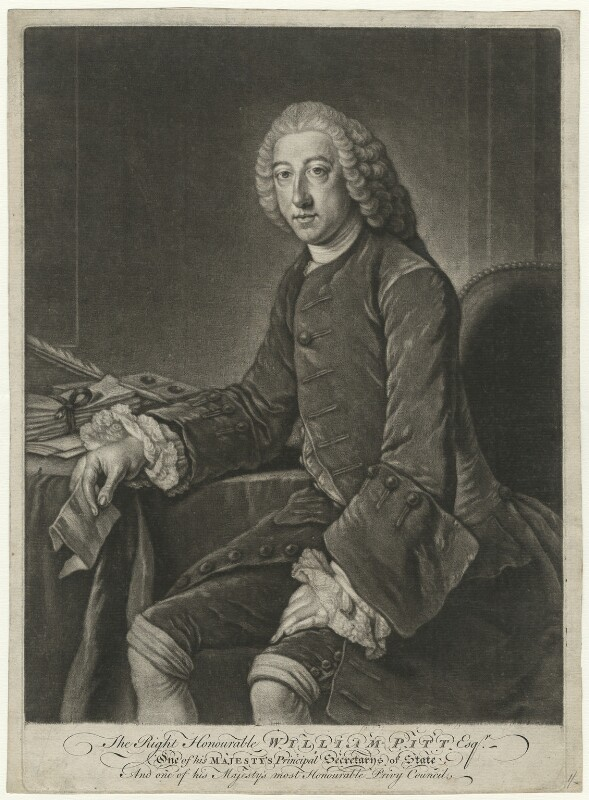 William Pitt, 1st Earl of Chatham, after William Hoare, (1754) - NPG D32921 - © National Portrait Gallery, London