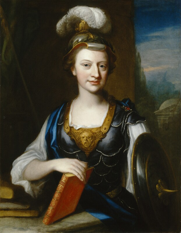 Elizabeth Carter ('Elizabeth Carter as Minerva'), by John Fayram, circa 1735-1741 - NPG L242 - © National Portrait Gallery, London