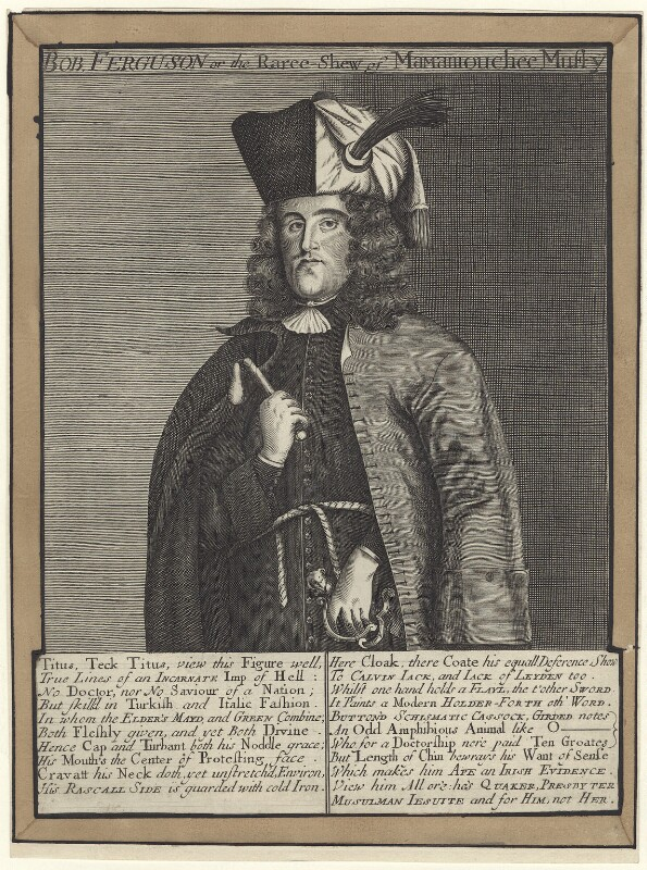 Titus Oates, after Unknown artist, late 17th to early 18th century - NPG D30672 - © National Portrait Gallery, London