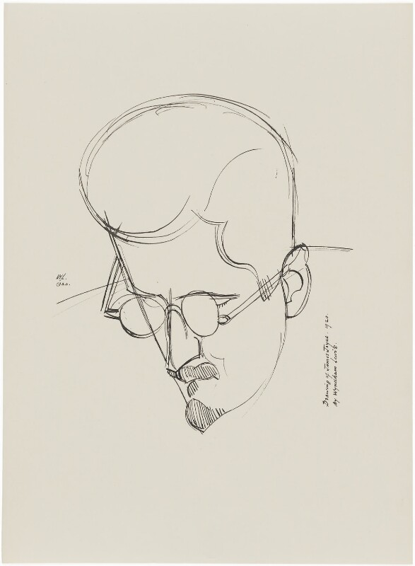 James Joyce, after Wyndham Lewis, published 1932 (1920) - NPG D32948 - © Wyndham Lewis and the estate of the late Mrs G A Wyndham Lewis by kind permission of the Wyndham Lewis Memorial Trust (a registered charity)