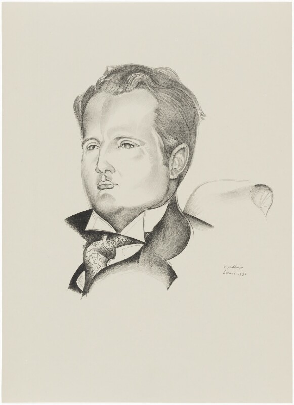 Constant Lambert, after Wyndham Lewis, 1932 - NPG D32949 - © Wyndham Lewis and the estate of the late Mrs G A Wyndham Lewis by kind permission of the Wyndham Lewis Memorial Trust (a registered charity)