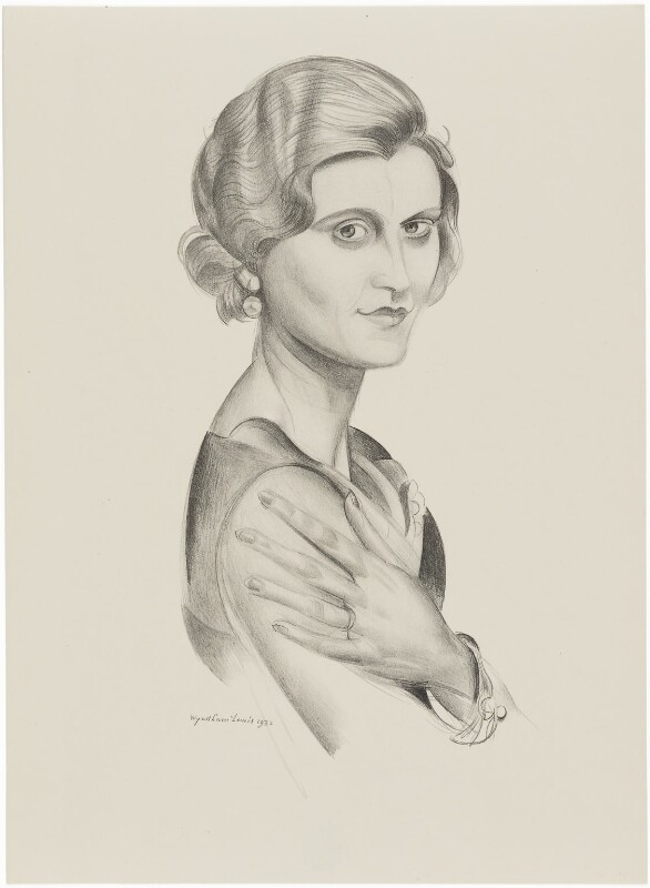 Marie Ney, after (Percy) Wyndham Lewis, 1932 - NPG D32954 - © Wyndham Lewis and the estate of the late Mrs G A Wyndham Lewis by kind permission of the Wyndham Lewis Memorial Trust (a registered charity)