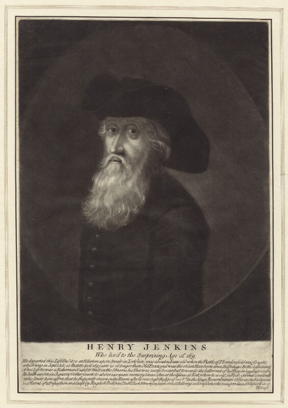 Henry Jenkins, after Walker, published by  Robert Sayer, mid to late 18th century - NPG D30695 - © National Portrait Gallery, London