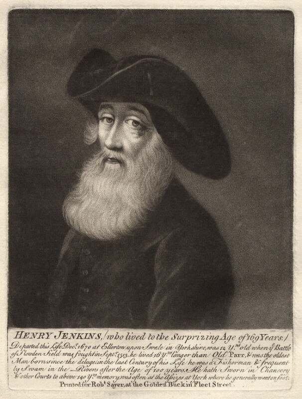 Henry Jenkins, after Walker, published by  Robert Sayer, mid to late 18th century - NPG D30697 - © National Portrait Gallery, London
