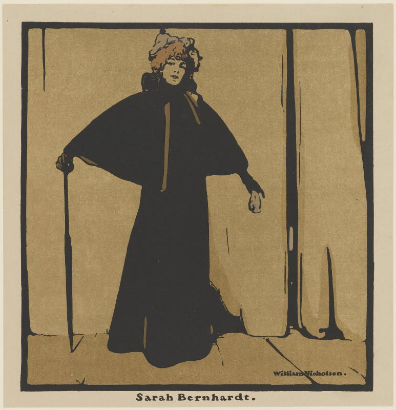 Sarah Bernhardt, published by William Heinemann, after  Sir William Newzam Prior Nicholson, published 1899 (1897) - NPG D32973 - © Desmond Banks