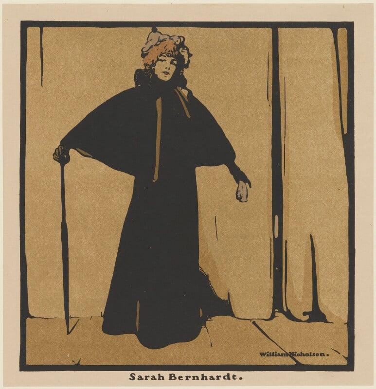 Sarah Bernhardt, published by William Heinemann, after  William Nicholson, published 1899 (1897) - NPG D32973 - © Desmond Banks