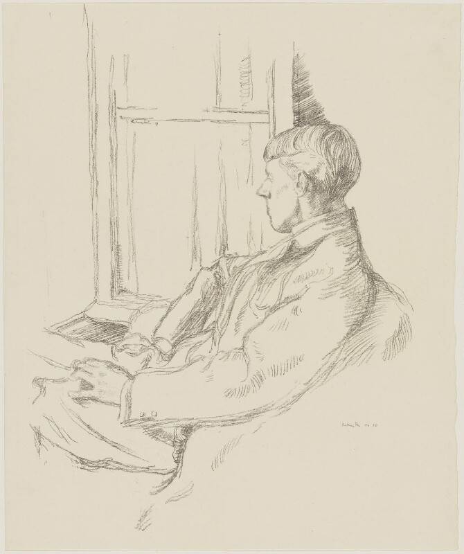 Aubrey Beardsley, by William Rothenstein, published 1899 (1897) - NPG D32975 - © National Portrait Gallery, London