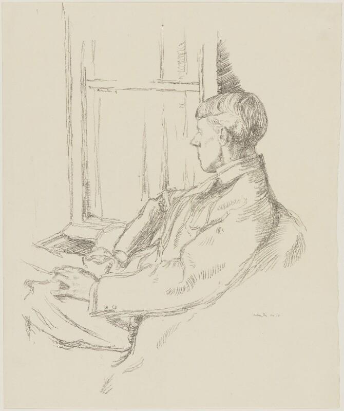 Aubrey Beardsley, by Sir William Rothenstein, published 1899 (1897) - NPG D32975 - © National Portrait Gallery, London
