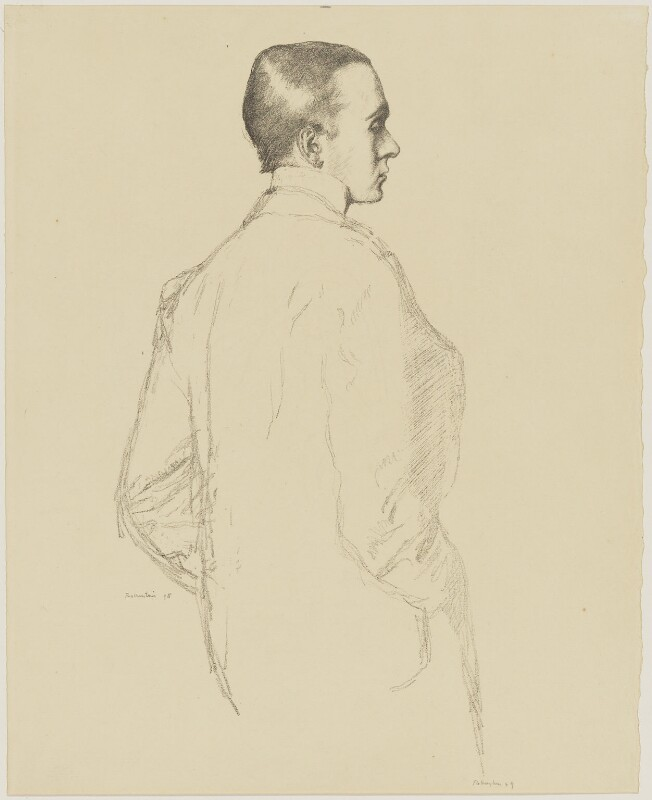 Sir Max Beerbohm, by William Rothenstein, published 1899 (1898) - NPG D32976 - © National Portrait Gallery, London