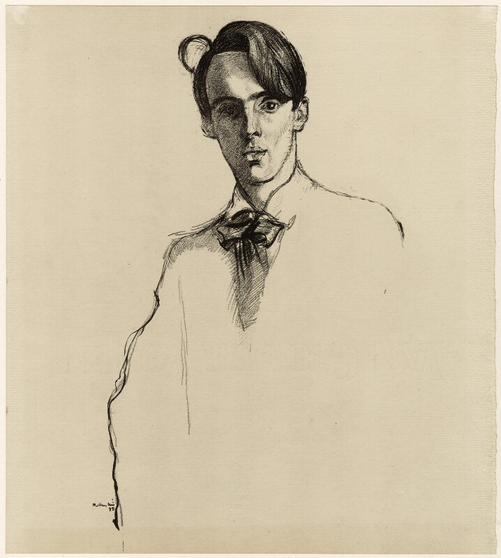 W.B. Yeats, by William Rothenstein, published 1899 (1898) - NPG D32980 - © National Portrait Gallery, London