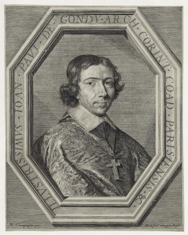 Jean François Paul de Gondi, Cardinal de Retz, by Jean Morin, after  Philippe de Champaigne, mid 17th century - NPG D30734 - © National Portrait Gallery, London