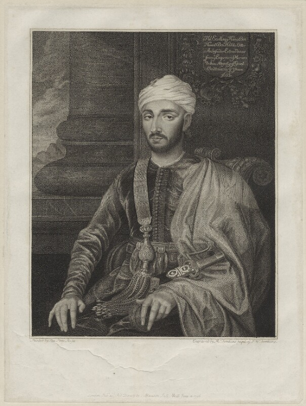 Mohammed ben Haddu Ottur (Hamet), by M. Tomkins, after  Susannah-Penelope Rosse (née Gibson), published 1797 - NPG D30737 - © National Portrait Gallery, London