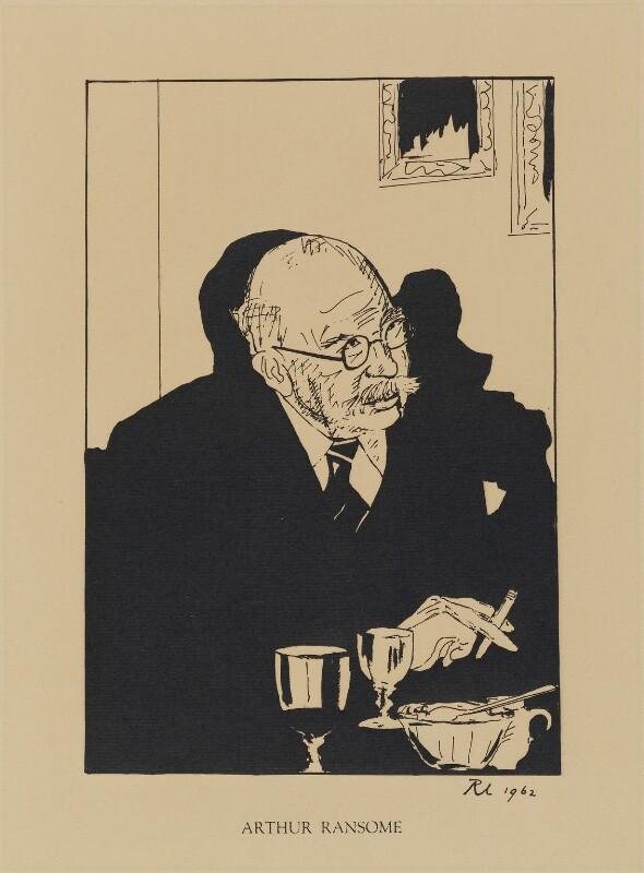 Arthur Ransome, by Robert Lutyens, published 1962 (1961) - NPG D32983 - © Candia Lutyens Peterson / National Portrait Gallery, London