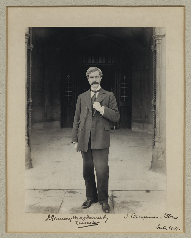 Ramsay MacDonald, by Benjamin Stone, July 1907 - NPG x31583 - © National Portrait Gallery, London