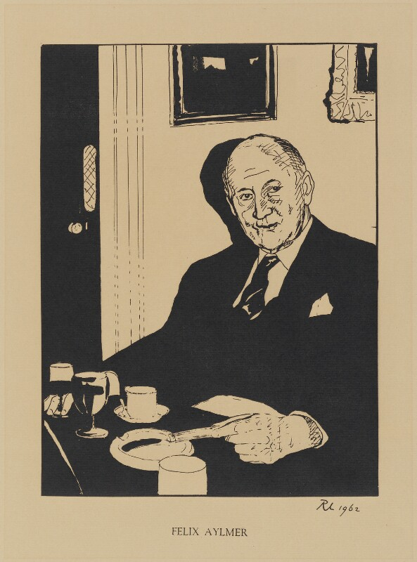 Sir Felix Edward Aylmer, by Robert Lutyens, published 1962 (1961) - NPG D32986 - © Candia Lutyens Peterson / National Portrait Gallery, London