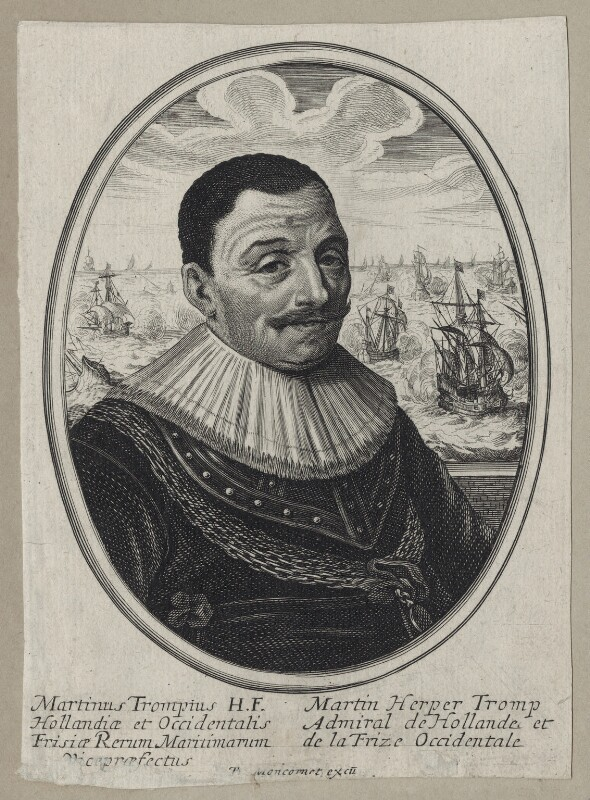 Maarten Tromp, published by Balthasar Moncornet, after  Unknown artist, mid 17th century - NPG D30749 - © National Portrait Gallery, London